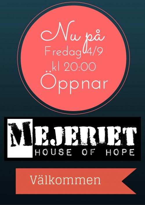 Nu på Fredag Öppnar VI!!!